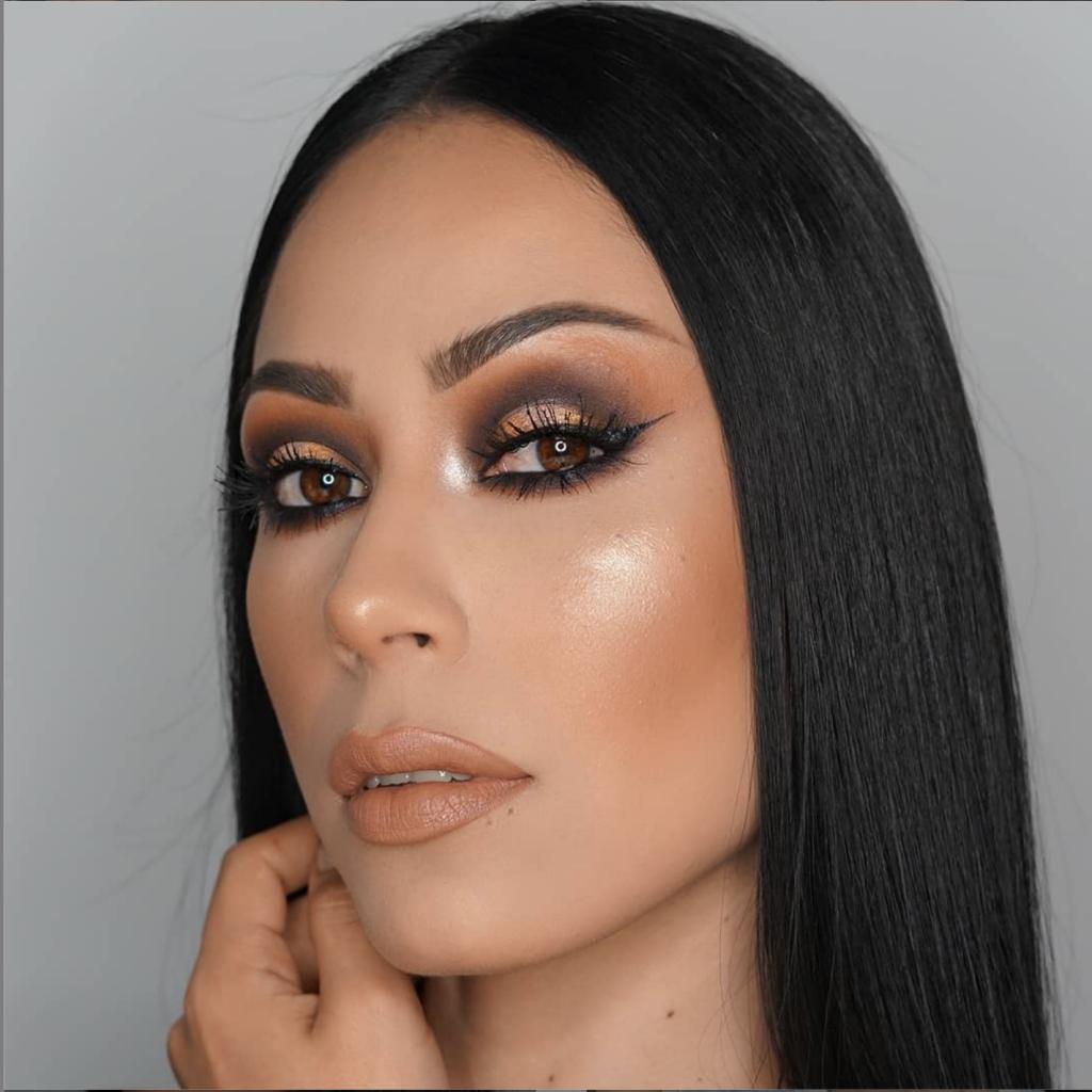 Maquillaje en tonos marrones1