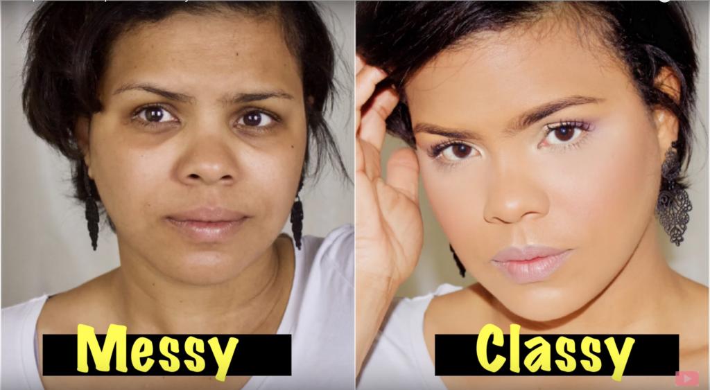 Transformación de maquillaje