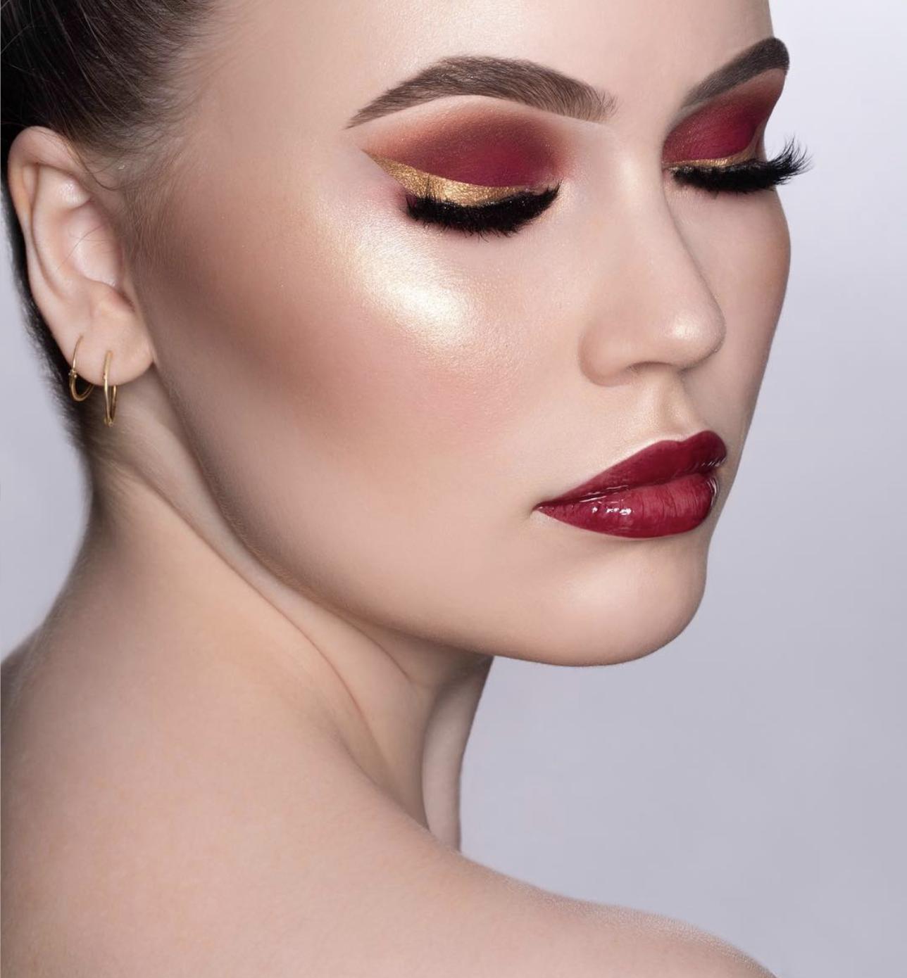 maquillaje labios rojos piel clrara