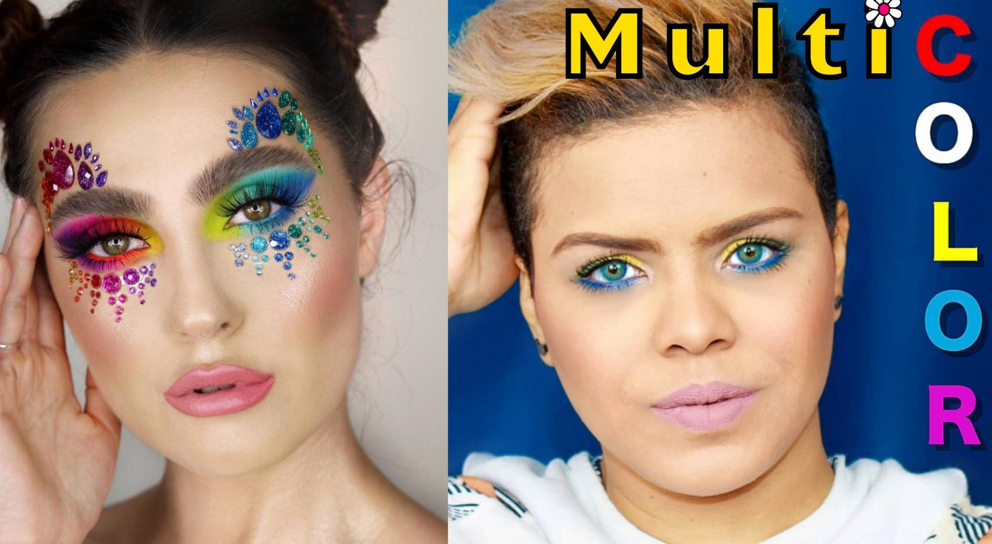Maquillaje colorido logo