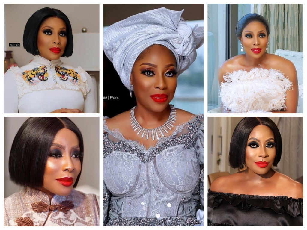 Mo Abudu Red Lips Makeup